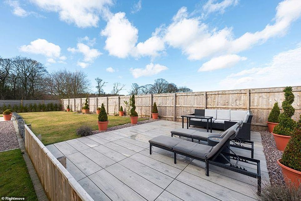 Vast: The outdoor site is complete with deck chairs and freshly-cut grass on 0.28 acres of land