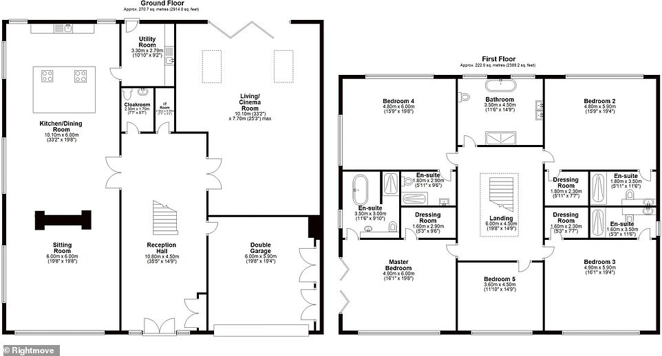 More details: A plan of the house gives buyers a clearer idea of how big each room is and how they've been arranged