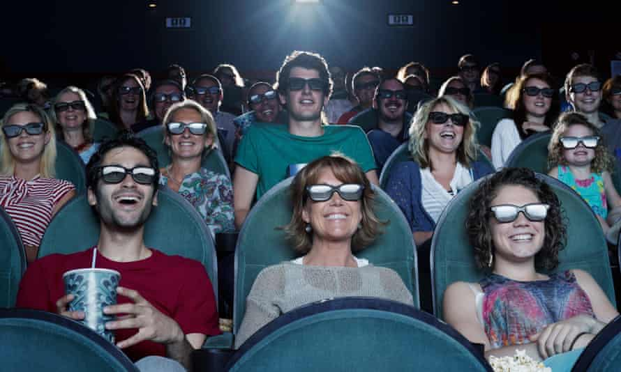 audience laughing at a cinema