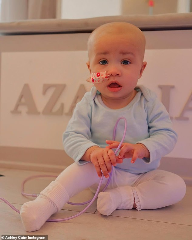 Procedure: Ashley said his seven-month-old daughter is now waiting for another bone marrow test, and his 'heart' and 'soul' are focusing on getting 'the result we have been wishing for'