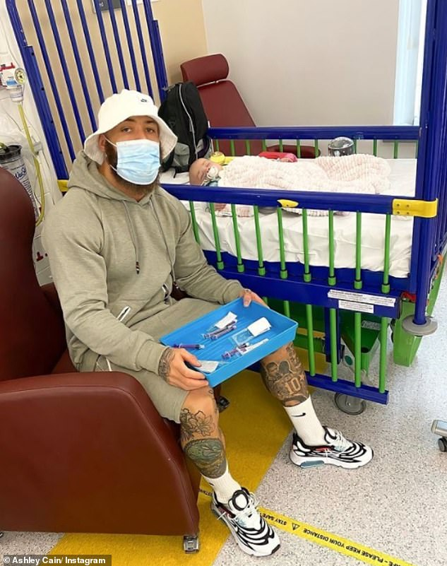 Candid:Ashley said last week having Azaylia at home as 'brought so much of his soul back' after briefly returning to hospital