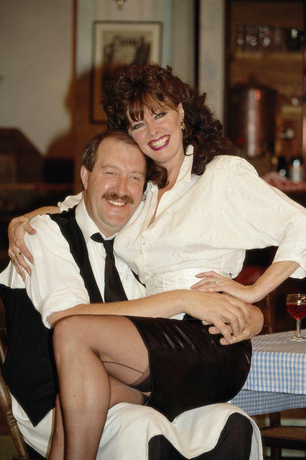 Gordon Kaye and Vicki Michelle in 'Allo 'Allo!