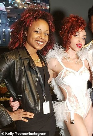 Pole choreographer Kelly Yvonne and FKA twigs pictured January 26