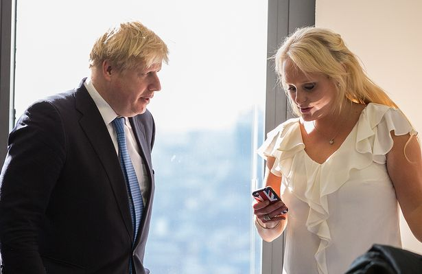 Boris Johnson with Jennifer Arcuri in 2013, the year after she said their relationship began