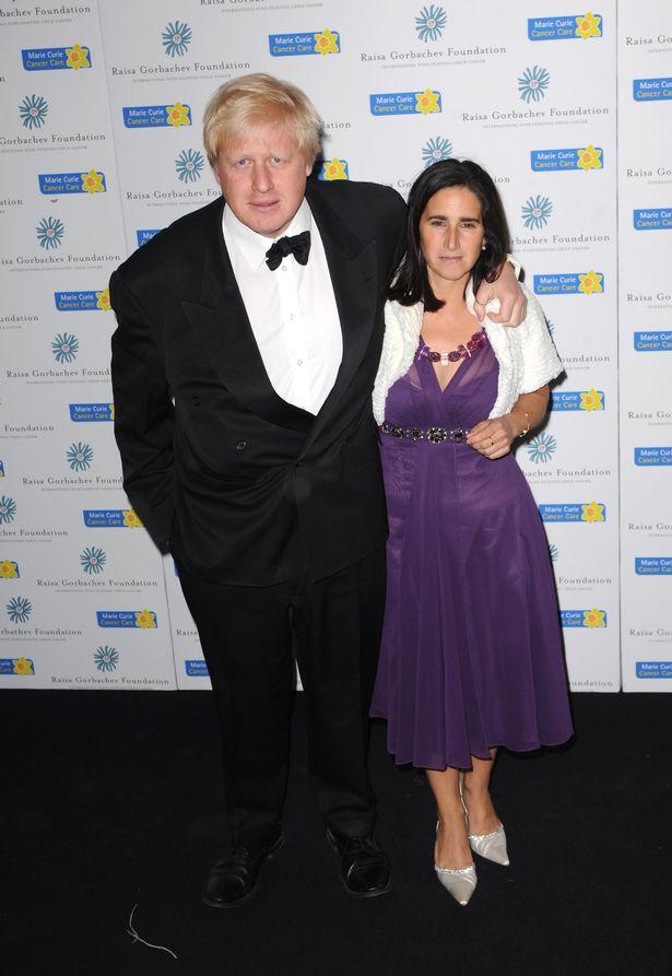 Boris Johnson with his former wife Marina Wheeler in 2009