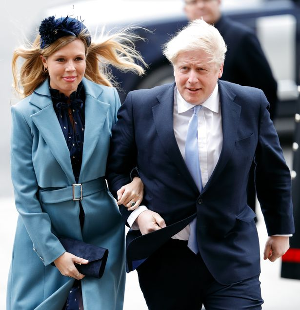 The Prime Minister with fiancee Carrie Symonds at Westminster Abbey last year