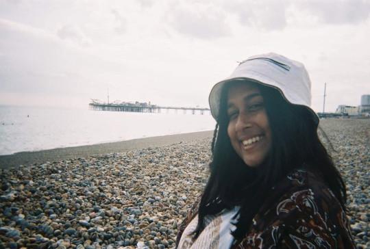Aneesa Ahmed on the beach