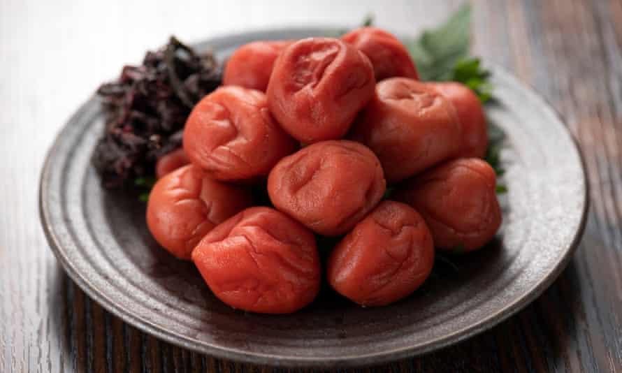 Umeboshi – ume plums cured in salt.
