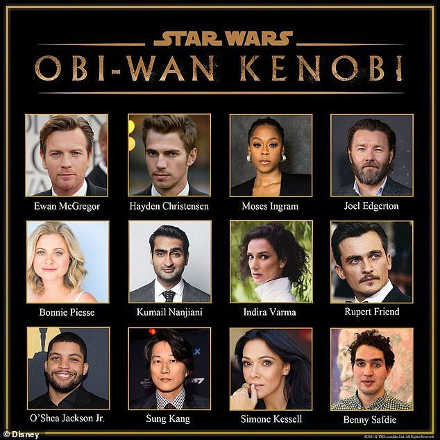 New and familiar faces: The cast is made up of returning Star Wars actors and stars newer to the franchise