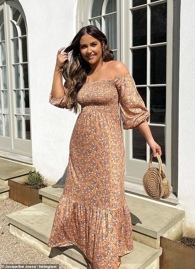 Pose:The former EastEnders star, 28, oozed confidence as she showcased some of her favourite pieces from the collection to her 3.1 million Instagram followers