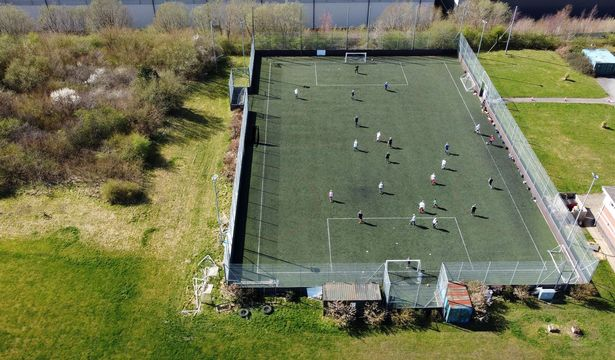 Stoke City's Community Trust walking football in Staffordshire
