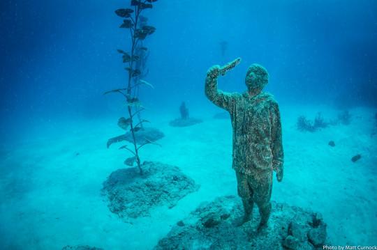 Museum of Underwater Art Picture credit: Matt Curnock