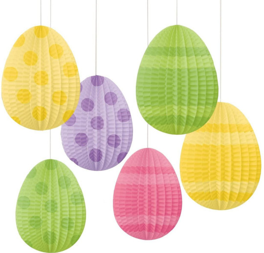 Amscan Hanging Pleated Paper Decoration Mini Egg Shape