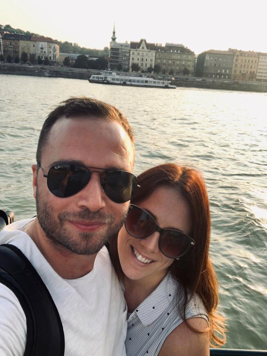 Danielle Carter and John Keast in Budapest in August 2019, after the fateful flight (PA REAL LIFE/Collect)