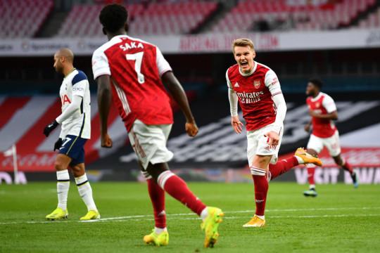 Martin Odegaard Arsenal v Tottenham Hotspur - Premier League