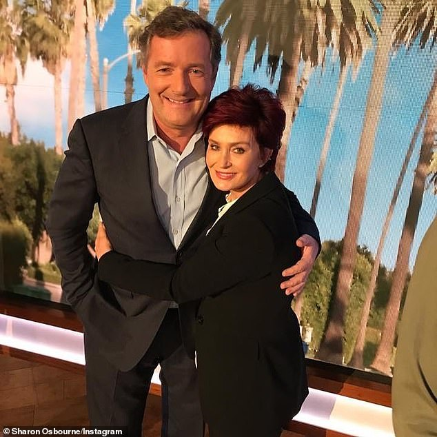Previously: The controversy began with an on-air debate in which Sharon defended her friend Piers Morgan's criticism of Meghan Markle. Osbourn and Morgan are seen together above
