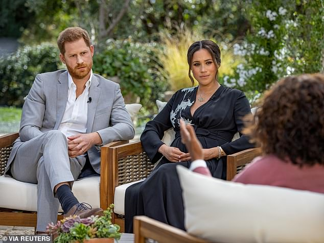 Claims: The controversy stems from Markle's remarks in the Oprah interview, in which she accused the Royal Family of racism and said she was driven to suicidal thoughts
