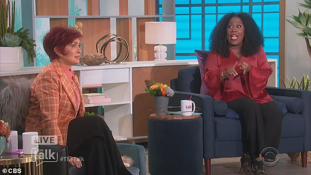 Speaking out: On The Talk, Sharon defended Morgan in an on-air debate with co-host Sheryl Underwood, which quickly turned heated