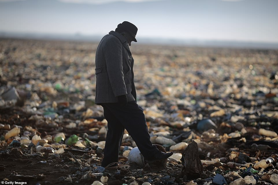 Years of pollution have seen mountains of rubbish pile up in Lake Uru Uru and damaged the lake's fragile ecosystem, pushing any remaining wildlife into only a small proportion of habitat