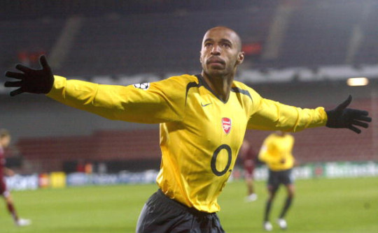Frenchman Thierry Henry of FC Arsenal