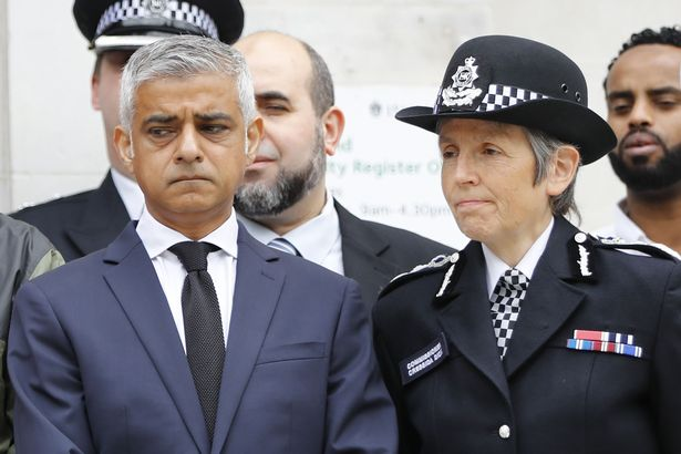 Sadiq Khan was critical of Met Police Commissioner Cressida Dick over the handling of the vigil