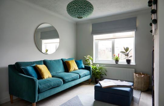 Vanessa Dodds pale blue living room
