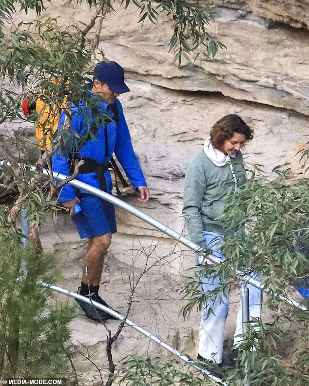 Chilly: Zac carried a yellow backpack and at times covered up in a light blue jacket