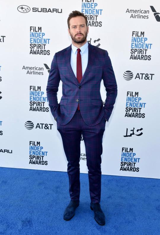 Armie Hammer attends Film Independent Spirit Awards
