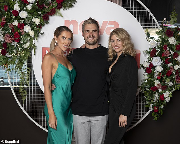 Reunited at last!Rebecca (left) and Booka (right) were also joined by Married At First Sight groom Sam Carraro (centre)