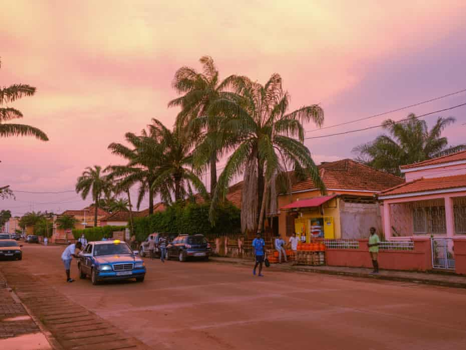 A scene in central Bissau, the capital of Guinea-Bissau.