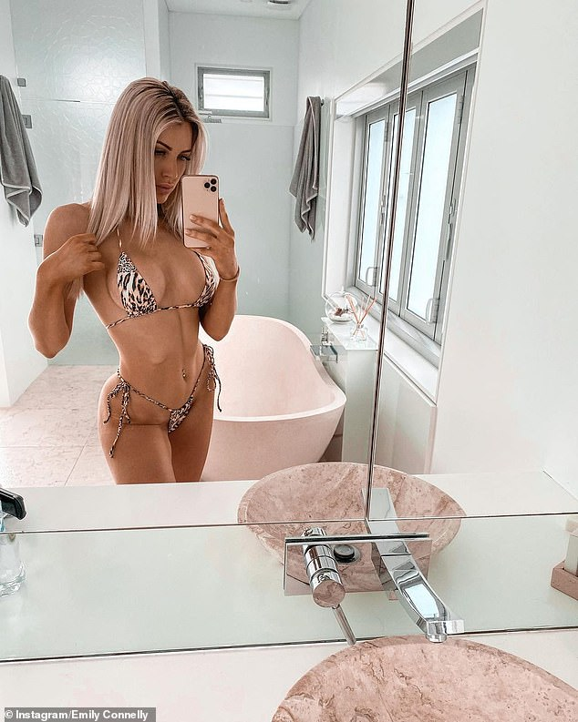 Online:Social media photos see Emily posing in slinky backless dresses, bikinis, plunging crop tops and racy corsets