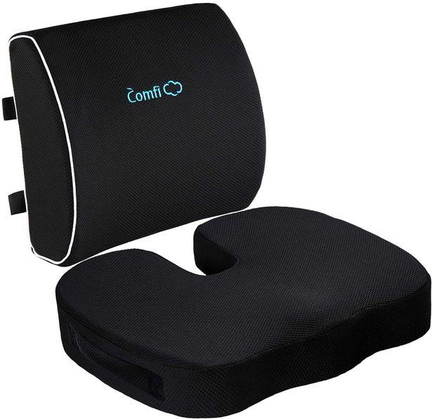 Seat Cushion and Lumbar Support Pillow