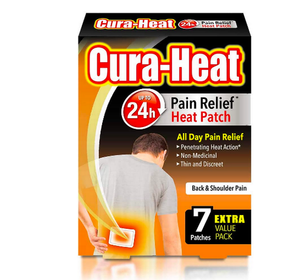 Cura-Heat Back and Shoulder Pain 7 Patches