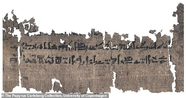 A 3,500-year-old medical papyrus was translated by the University of Copenhagen, which describes instructions on how to properly cover the dead person's face
