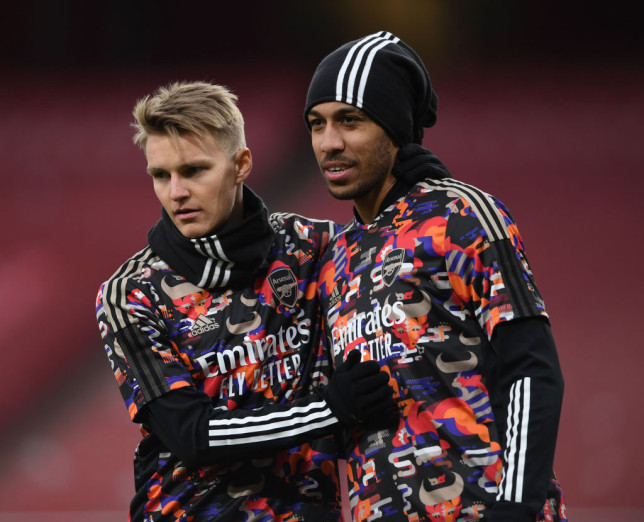 Arsenal captain Pierre-Emerick Aubameyang makes Martin Odegaard transfer promise