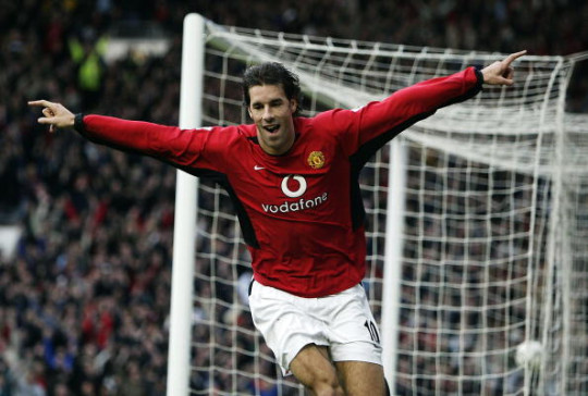 Ruud van Nistelrooy Manchester United v Manchester City