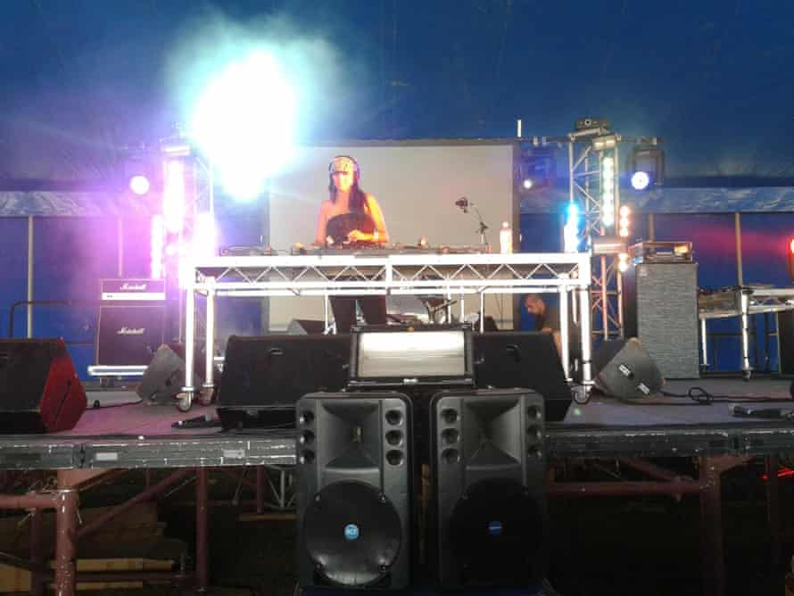 Rebecca Poulson in her DJ life