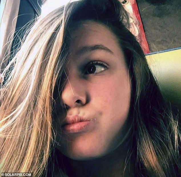 British teenager Taya O'Loughlin, pictured, has been found safe and well after she vanished from outside her secondary school in the capital Palma at 8am on Tuesday morning