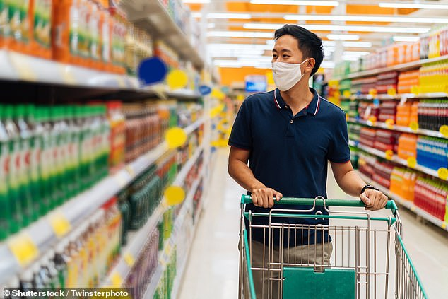 Three out of five shoppers have felt unsafe in supermarkets during the current lockdown, a study into consumer opinion on COVID-19 safety measures has found (stock image)