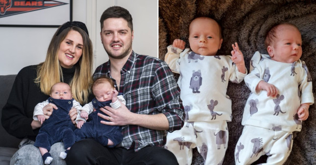 A couple who thought they may never have children have welcomed a pair of twins - who were born on different days and have different star signs. SWNS