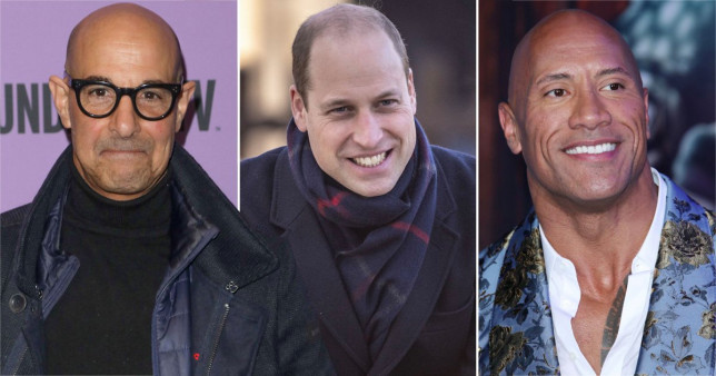 Dwayne Johnson, Prince William and Stanley Tucci