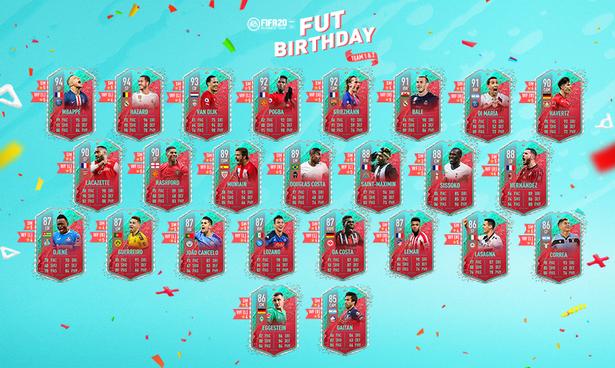 The FIFA 20 FUT Birthday Team 1 and Team 2