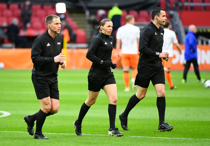 Frappart becomes first woman to referee men's World Cup qualifier