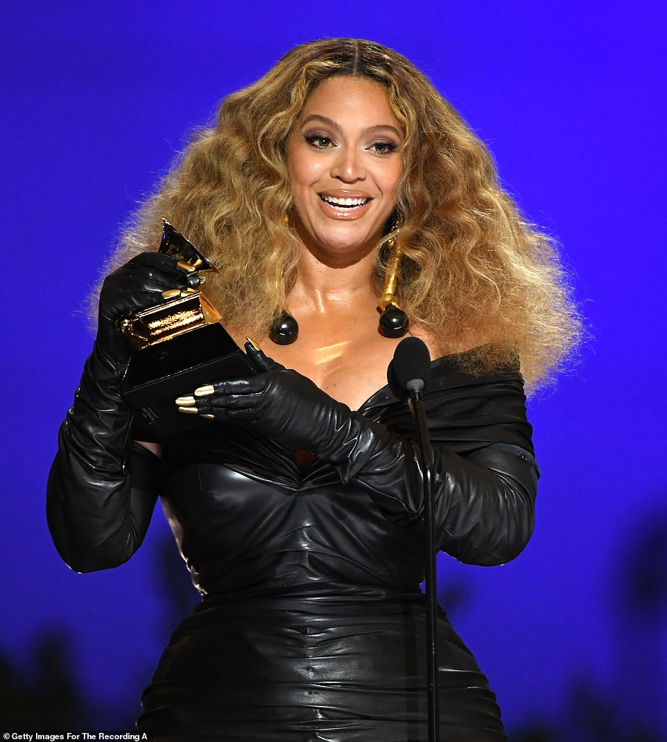 What a feat! Beyonce has broken the record for most wins ever by a singer and most wins by a female artist with 28 at the 63rd Annual Grammy Awards on Sunday night