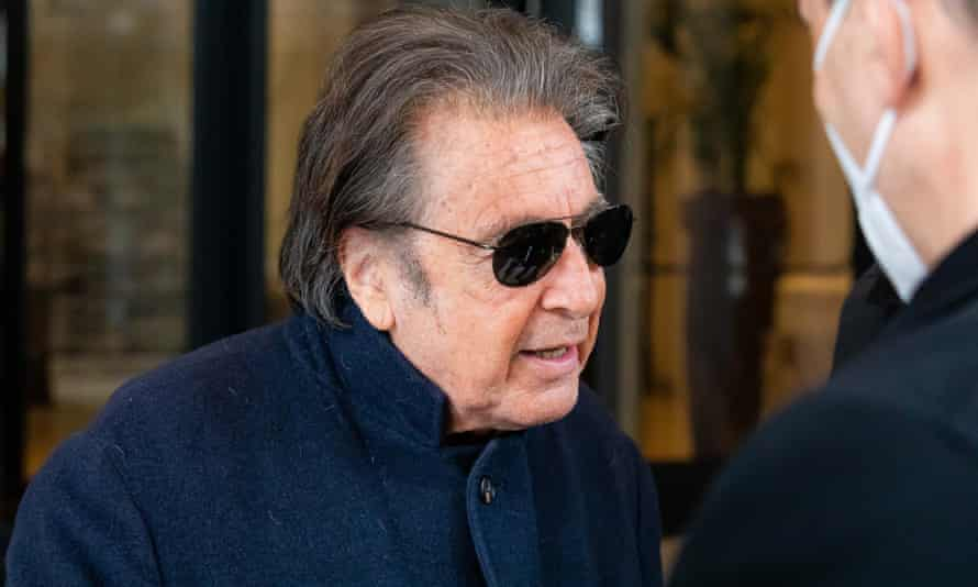 Al Pacino in Milan shooting House of Gucci.