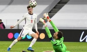Mason Mount scores for England against Albania