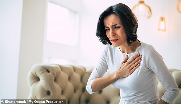 Women experiencing heart attacks are more likely than men to have their symptom of chest pain misdiagnosed by doctors as anxiety or stress, a study has warned (stock image)