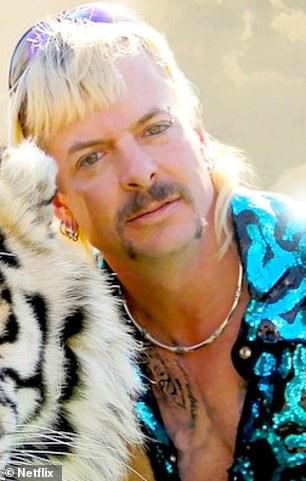 Making it work:Tiger King star Joe Exotic (pictured), 58, has revealed that his 26-year-old husband Dillon Passage will remain married to him.