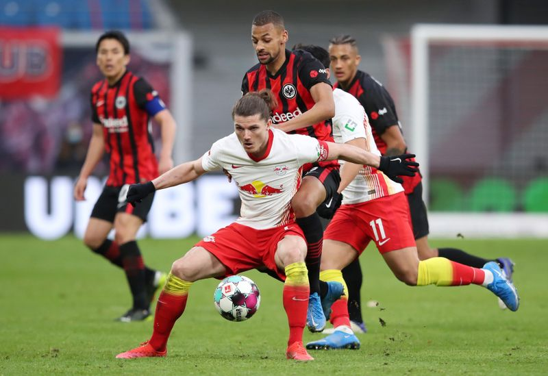 Leipzig slip up in title race after draw with Frankfurt