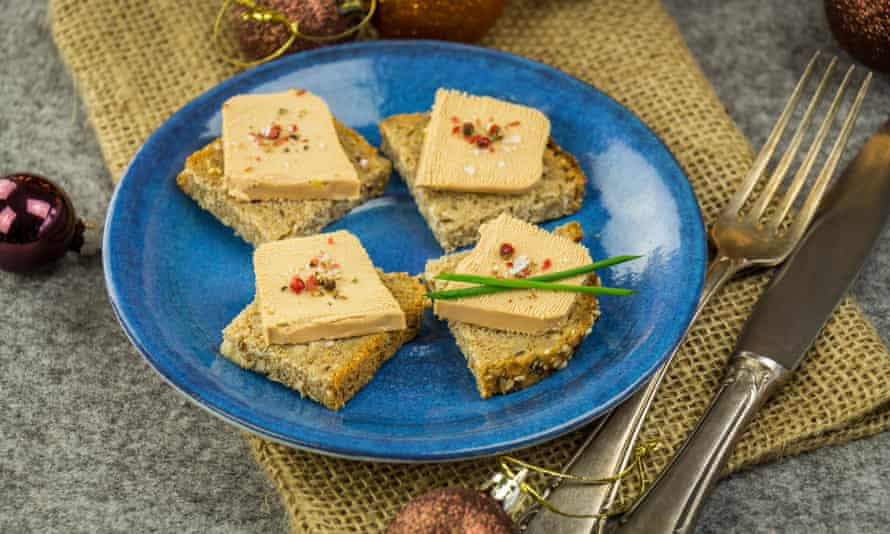 Foie gras on wholewheat bread